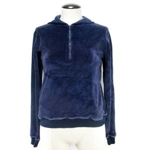 Tommy Hilfiger Purple Hoodie Sleepwear Velvet Sz M